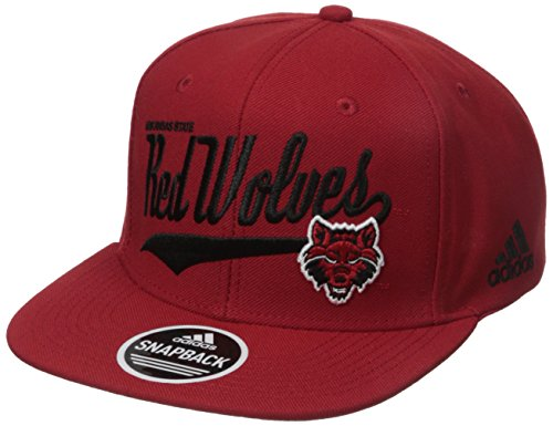 Ncaa Adjustable Hats (NCAA North Carolina State Wolfpack Men's Tail Sweep Logo Structured Adjustable Hat, Red, One Size)