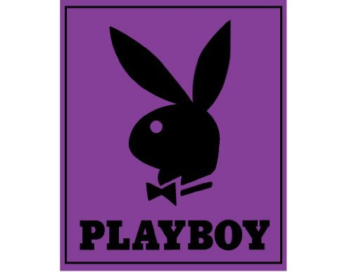 - Playboy - Classic Bunny Purple Queen Blanket