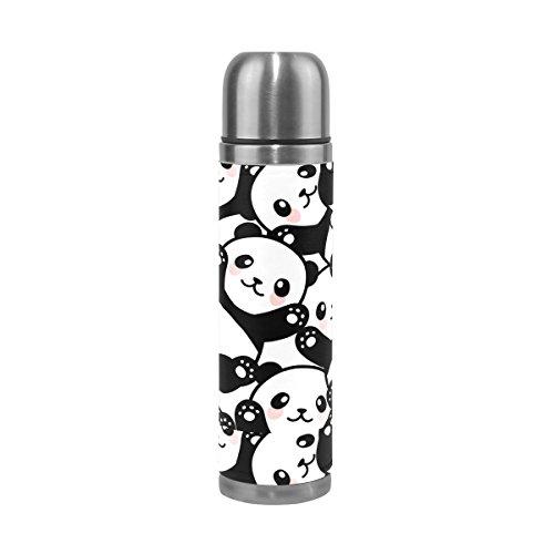 cute panda stainless steel water