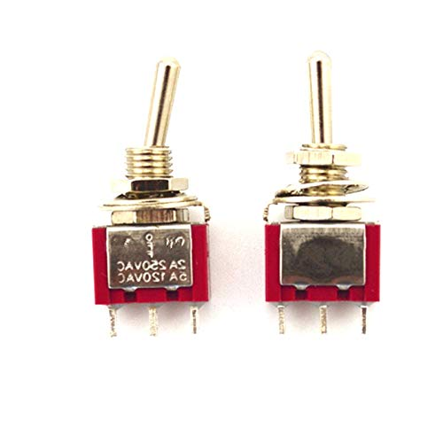 200pcs/Lot SPDT Momentary Miniature Rocker Toggle Switch (ON)-Off-(ON) 2A/250VAC 5A/125VAC by IndustrialField