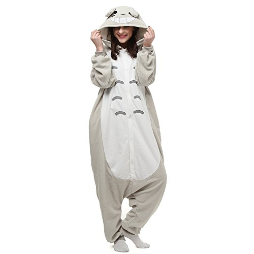 [Cosplay Halloween My Neighbor Totoro Kigurumi Onesie Costumes Pajamas] (Totoro Costume Halloween)
