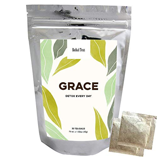 Baikal Teas - Grace - Natural Detox Tea for Weight Loss and Belly Fat - For Men Women - Decaf Herbal Tea Bags with Laxative effect - Slimming Everyday Tea for Healthy Cleanse