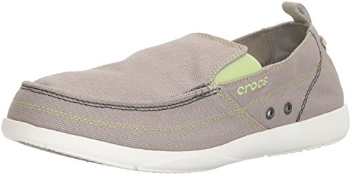 da Light Mocassini Walu Crocs White Grigio Grey Uomo 11270 BYwR6qtP