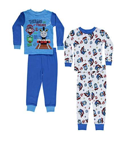 (Thomas the Tank Engine Boys Pajamas - 2-Pack of 2-Piece Long Sleeve Pajama Set (Light Blue, 18M))