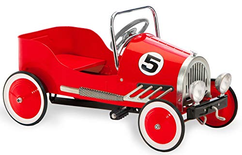 (Morgan Cycle Retro Style Pedal Car, Red )