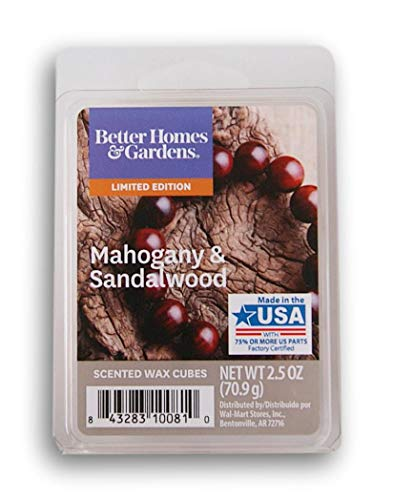 Better Homes & Gardens Mahogany and Sandalwood 2018 Limited Edition Wax Cubes