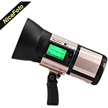 NiceFoto K8 800W 2.4G ITTL ETTL 1/8000s High Speed Sync 1.8s Recycle Time 500 Full Power Flashes Battery-Powered Flash Strobe Monolight for Canon and Nikon TTL and HSS Compatibility