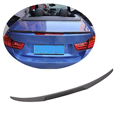 (MCARCAR KIT Trunk Spoiler fits BMW F83 M4 F33 428i 430i 435i 440i Convertible 2014-2019 M4 Look Carbon Fiber Rear Boot Lid Highkick Spoiler Wing Lip)