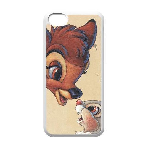 Bambi coque iPhone 5C Housse Blanc téléphone portable couverture de cas coque EBDOBCKCO10563