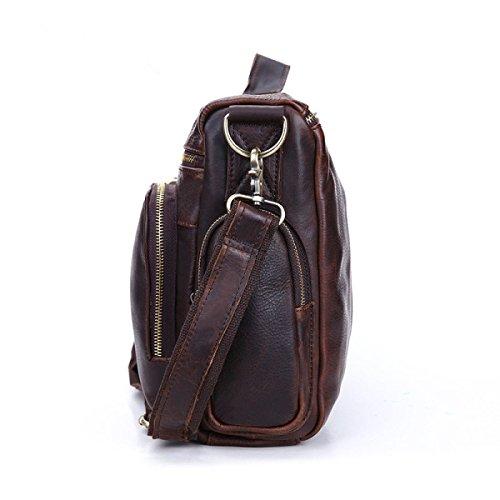 Ayer Bolsos De Los Hombres De Moda Retro Casual Hombro Hombres De Negocios Bolso Maletín Messenger Bag Brown