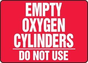 "Accuform MWLD502VA Aluminum Safety Sign, Legend ""EMPTY OX..."