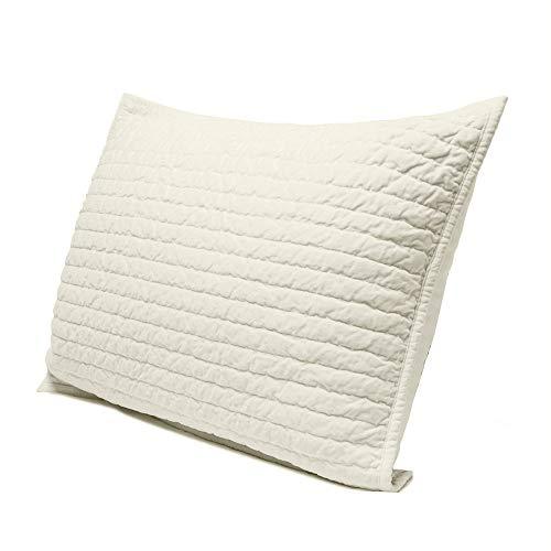 """- Elegant Life Super Soft Royal Velvet Pillow Sham, Standard Size(20""""x26""""+0.5""""), Ivory"""