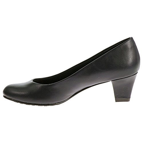 Soft Style Hush Puppies Women's Gail Dress Pump, Navy Leather, 9.5 W US by Soft Style (Image #3)