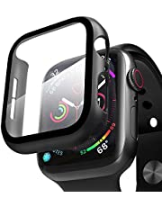 ZXK CO Compatible Apple Watch Case 44mm Series 5/4 with Screen Protector, Overall Full Protective Hard PC Bumper Case Ultra-Thin HD Glass Screen Protector for iWatch Series 4 Series 5 (44mm)