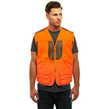 Trail Crest Men's Blaze Orange Safety Deluxe Front Loader Vest W/ Magnet