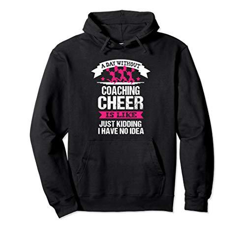 Cheerleading Coach Funny Hoodie Sarcastic Cheer Team Gift ()