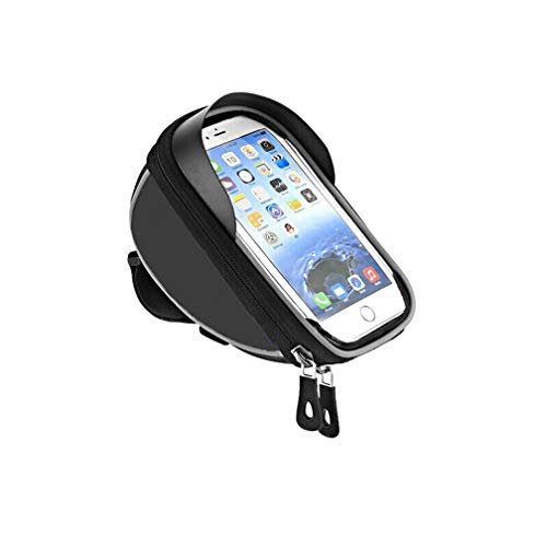 """Yeelan Bike Phone Bag Cycling Frame Bags Bicycle Touchscreen Pouch with Waterproof Cover for 6"""" Smart Phones"""