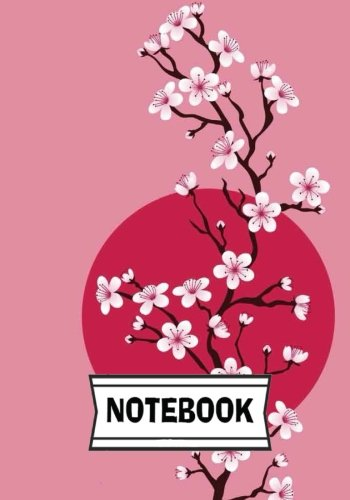 "Notebook: Cherry blossom 01 : Journal Diary, 110 Lined pages, 7"" x 10"""