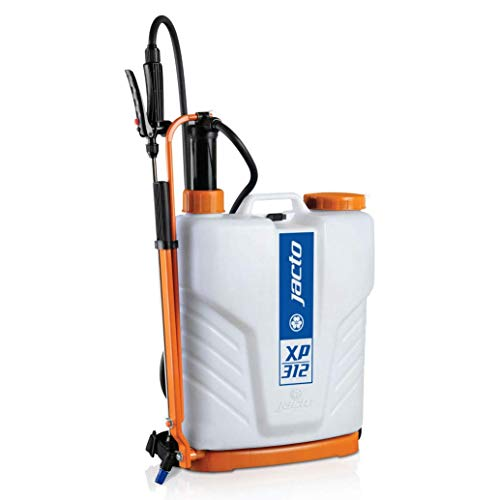 Jacto XP312 Backpack Sprayer, Professional UV Resistant Garden Pump, Perfect for Pesticide Control, Translucent White