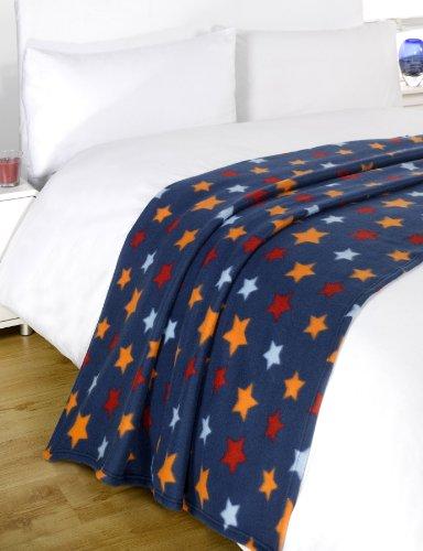 (Dreamscene Decorative Star Large Fleece Blanket Super Soft Plush Warm Cozy Sofa Bed Throw, 50