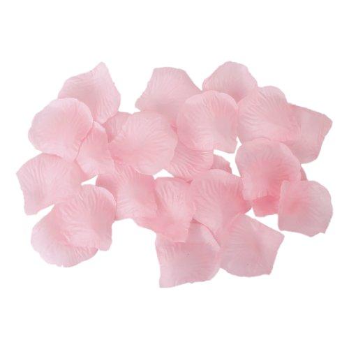100pcs Artificial Silk Rose Petals Wedding Decoration Flowers -Light (White Pink Petal)