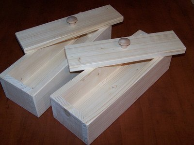 2 Wood Wooden Soap Mold to Make 4-5lb Loaf from Toughtimbers