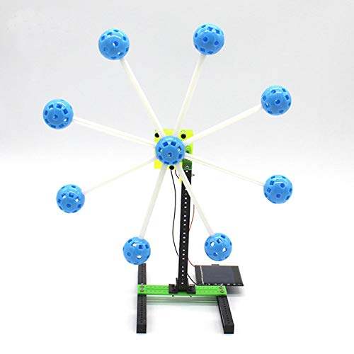 Solar Energy Wheel Toys Physical Gizmo Building Blocks Kits Solar Energy Assembled Toy Teaching by Unknown
