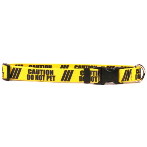 Yellow Dog Design 1'' Caution Do Not Pet Dog Collar 3/4'' Wide And Fits Neck 10 To 14'', Small by Yellow Dog Design