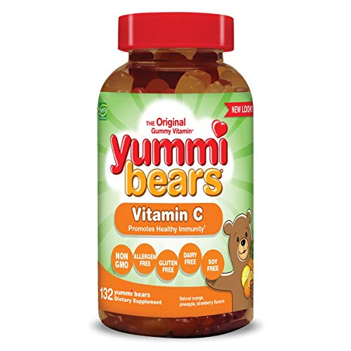 Yummi Bears Vitamin C Chewable Gummy Vitamin Supplement for Kids, 132 - Kids Grape Emergency