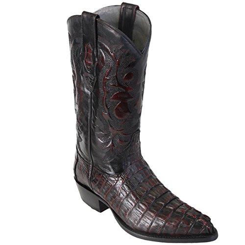 Original Black Cherry Caiman (Gator) Tail LeatherJ-Toe Boot -