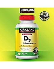 Kirkland Signature Expect More Extra Strength D3 50 mcg, 600 Softgels
