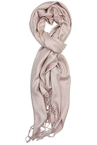 Achillea Large Soft Silky Pashmina Shawl Wrap Scarf in Solid Colors (Light (Tan Camel Hair)