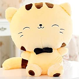 """18 45CM Include Tail Cute Plush Stuffed Toys Cushion Fortune Cat Doll High 13"""" Yellow Color by Eternity888"""