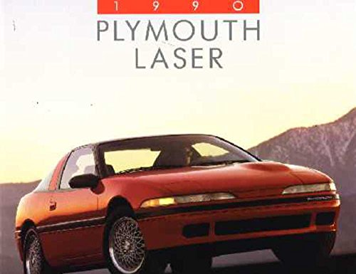 1990 Plymouth Laser Sales Brochure Literature Book Advertisement Options Specs