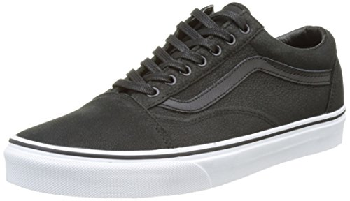 Vans Unisex-Erwachsene Sk8-Hi Reissue Low-Top Schwarz ((Premium Leather) black/true white)