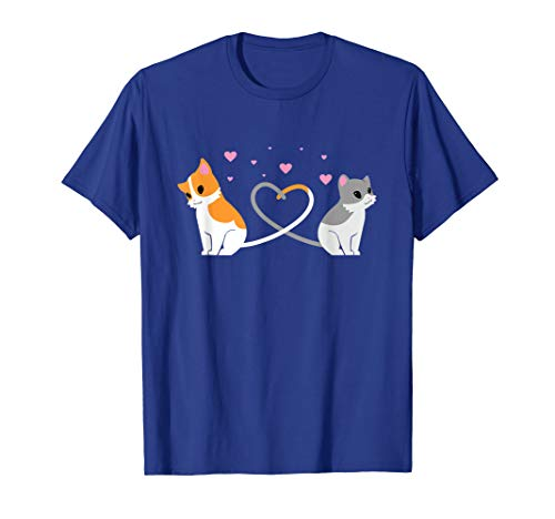 I Love My Cat T-Shirt Cats Lovers Couple Valentines Day Tee]()