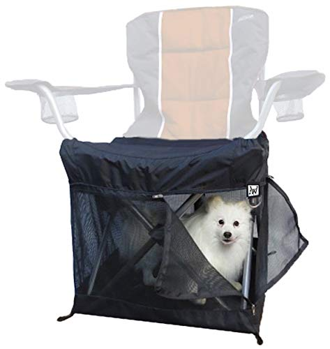 Wrapsit Slipcover Soft-Sided Pet Crate Collapsible Lawn Chair Dog Kennel, Soft Cat Crate for Folding Quad Chairs