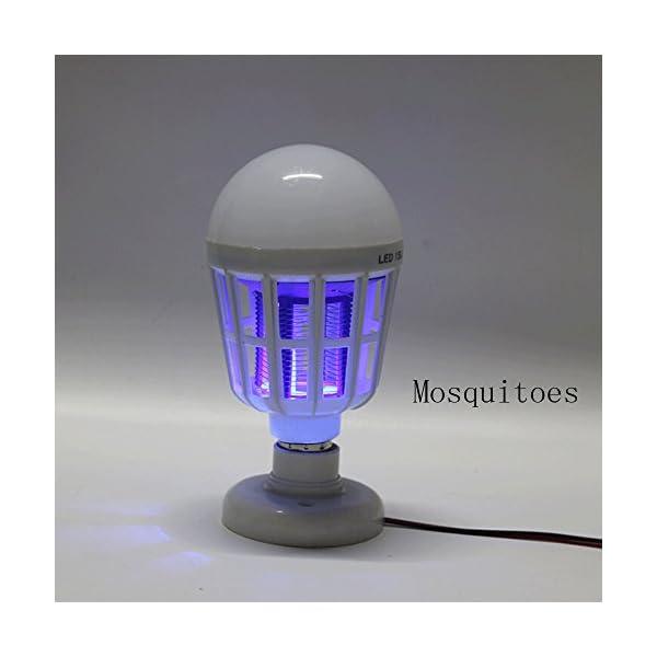 NUOVA Lampadina Anti-zanzara a LED, Mecohe 15W 1000LM 6500K Elettronico Mosca Insetto Fly Bug Zanzara Killer Bulb… 4 spesavip