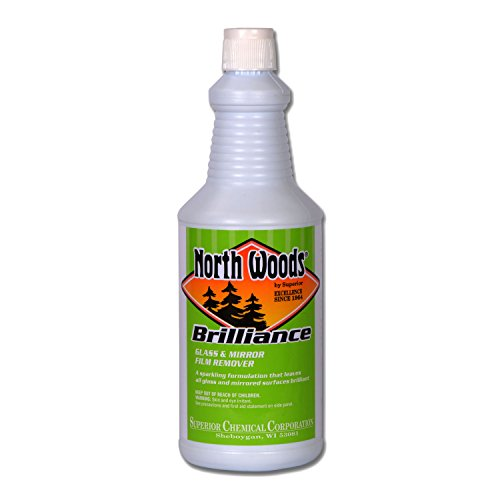North Woods Brilliance - Glass & Mirror Cleaner (Pack of 24) by North Woods