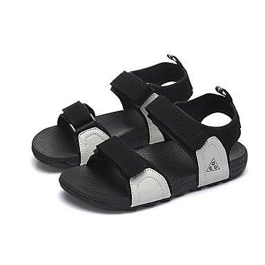 Los hombres sandalias confort par zapatos casual de resorte de goma plana negra gris morado,negro Gray