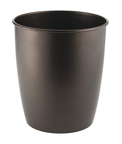 mDesign Metal Wastebasket Trash Can for Bathroom, Office, Ki