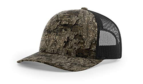 Running Partner Richardson 112 112P Trucker Mesh Snapback Hat Curved Bill with NoSweat Hat Liner (Adjustable Snapback Realtree Colorway, Realtree Timber/Black)