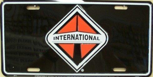International Black Background License Plate