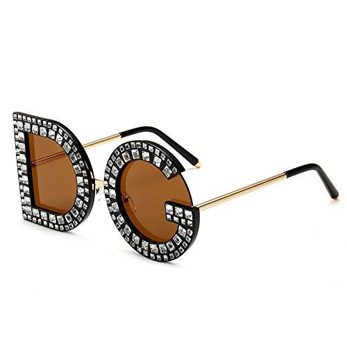 Retro DG Letter Sunglasses UV400 Protection Vintage Crystal Trim Jeweled Frame Costume Glasses For Women/Girls