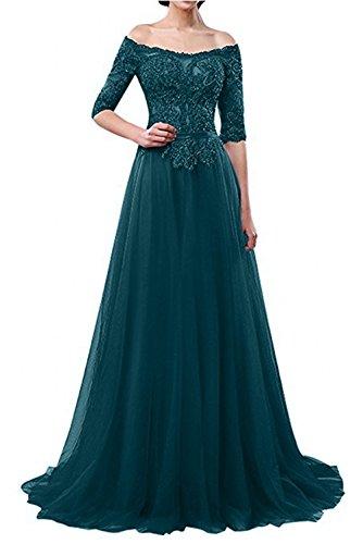 A Brautmutterkleider Braut Festlichkleider La Ballkleider Langes mia Schulterfrei Linie Dunkel Blau Festlichkleider Abendkleider 8n0wqHa4a
