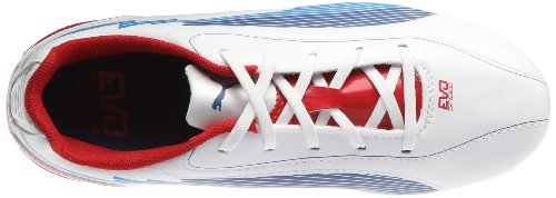 Puma - Botas de deportivo infantil, tamaño 38 UK, color naranja Blanco (Weiss (white-limoges-ribbon red 01))