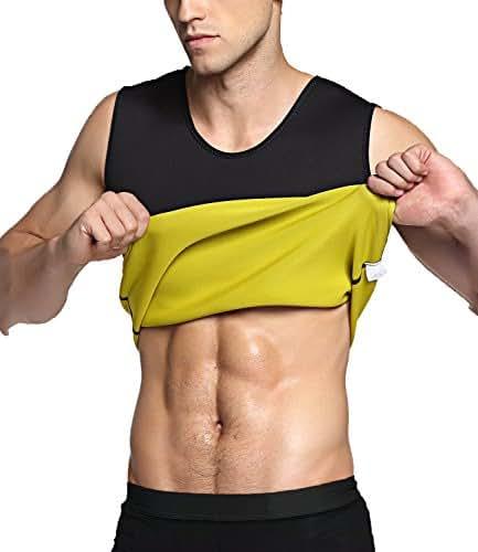IFLOVE Men's Hot Sweat Body Shaper Tummy Fat Burner Tank Top Slimming Vest Weight Loss Shapewear Neoprene No Zip