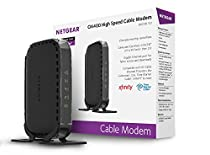 NETGEAR CM400 (8x4) DOCSIS 3.0 Cable Modem. Max download speeds of 340Mbps. Certified for Xfinity from Comcast, Spectrum, Cox, Cablevision & more (CM400-1AZNAS)