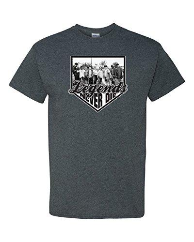 Legends Never Die - The Sandlot Kids Men's T-Shirt - 2XL Dark Heather (Mens Never Die)