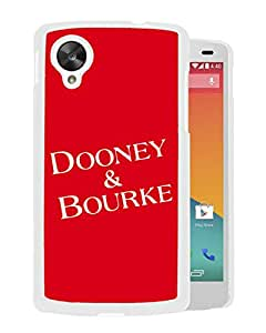 Unique And Fashionable Designed Cover Case For Google Nexus 5 With Dooney Bourke DB 05 White Phone Case